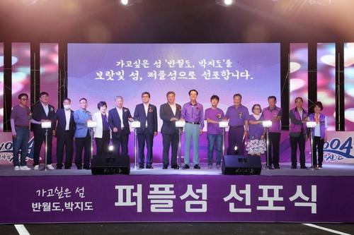 '섬 속의 섬' 신안 반월도·박지도 보랏빛 '퍼플섬' 됐다