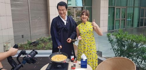 """""""김치로 코로나19 이기세요""""…이라크 에르빌서 홍보 방송"""