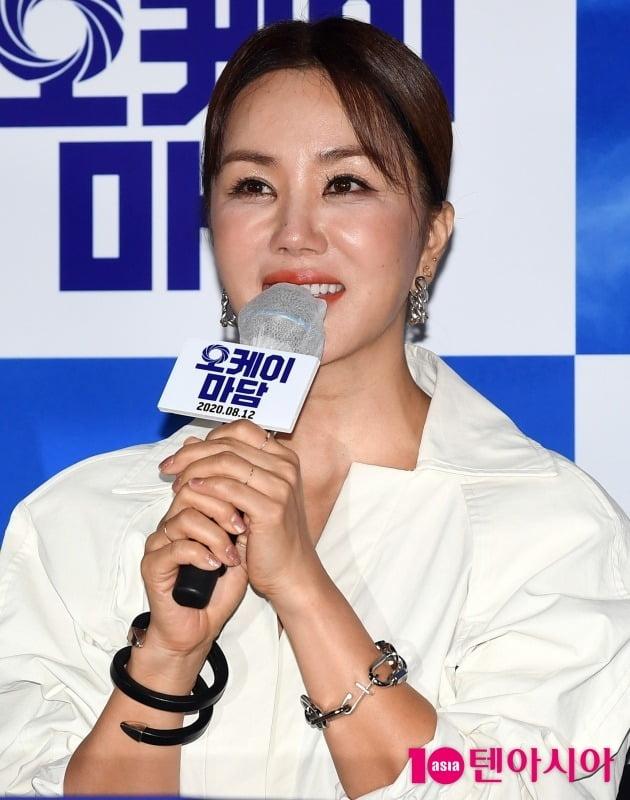 "[TEN 포토] '오케이마담' 엄정화 ""스크린 복귀 감격스럽다"""