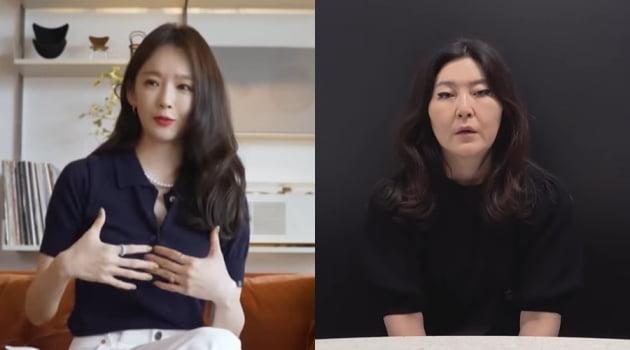 강민경(왼쪽), 한혜연/ 사진=유튜브 캡처
