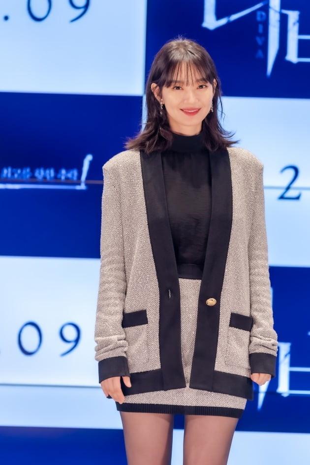 배우 신민아가 13일 열린 영화 '디바' 온라인 제작보고회에 참석했다. / 사진제공=메가박스중앙㈜플러스엠