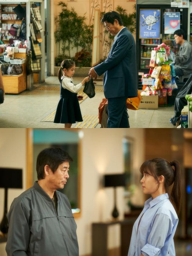 영화 '담보' 성동일-박소이(위), 성동일-하지원(아래)./ 사진제공=CJ엔터테인먼트