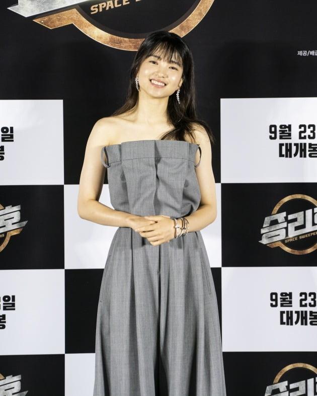 배우 김태리가 영화 '승리호'의 온라인 제작보고회에 참석했다. / 사진제공=메리크리스마스