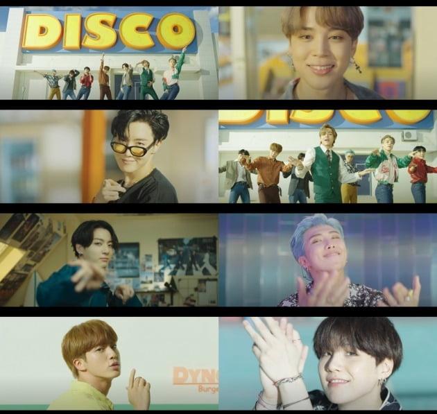 방탄소년단 'Dynamite' MV 티저./사진제공=빅히트 엔터테인먼트