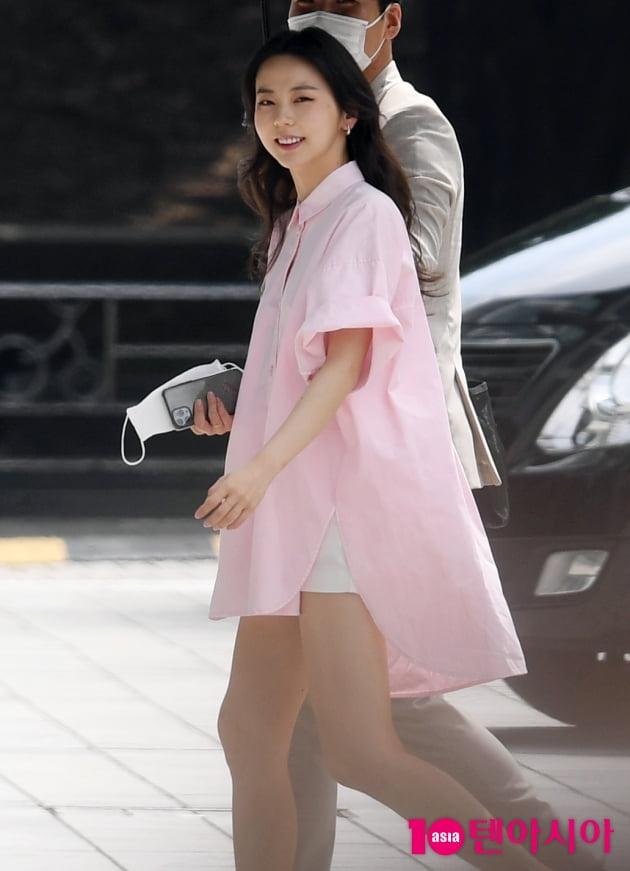 [TEN 포토] 안소희 '폭염 날리는 꽃미소'