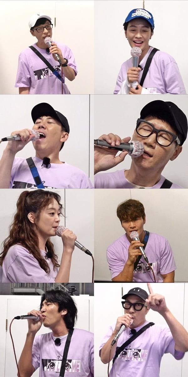 '런닝맨' 멤버들이 '생목 라이브' 대결을 벌인다. / 사진제공=SBS