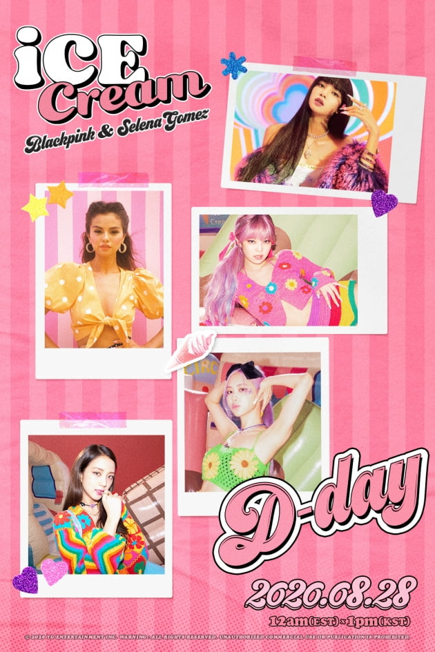 블랙핑크 '아이스크림' D-DAY 포스터 = YG엔터테인먼트 제공