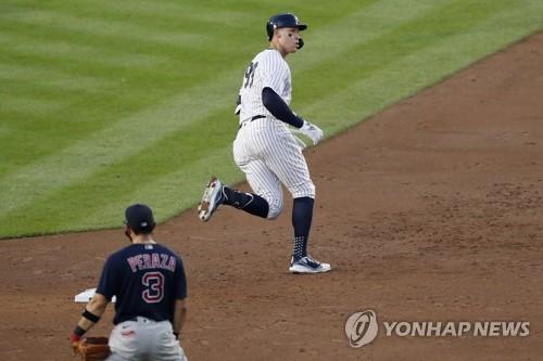 저지, 5경기 연속 홈런…양키스에서 13년 만에 나온 기록