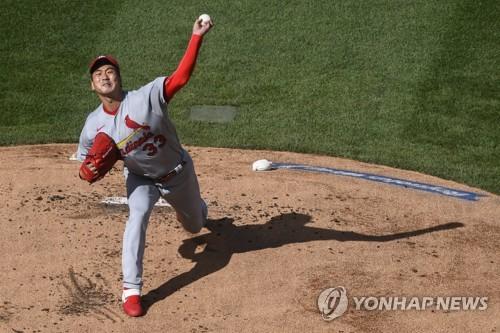 김광현, 메이저리그 선발 데뷔전에서 3⅔이닝 1실점