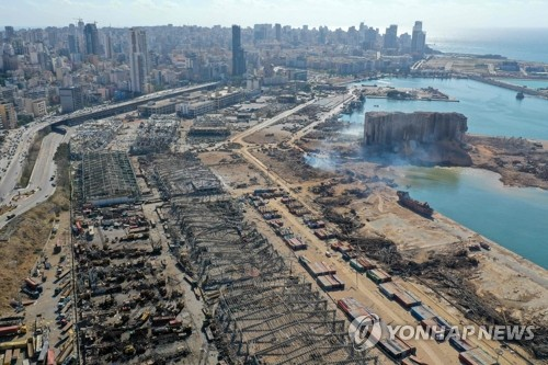 프랑스 마크롱 대통령, '폭발 참사' 레바논 방문