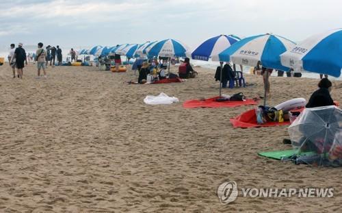 코로나에 장마까지…삼척해수욕장 피서객 '반의반 토막' 폐장