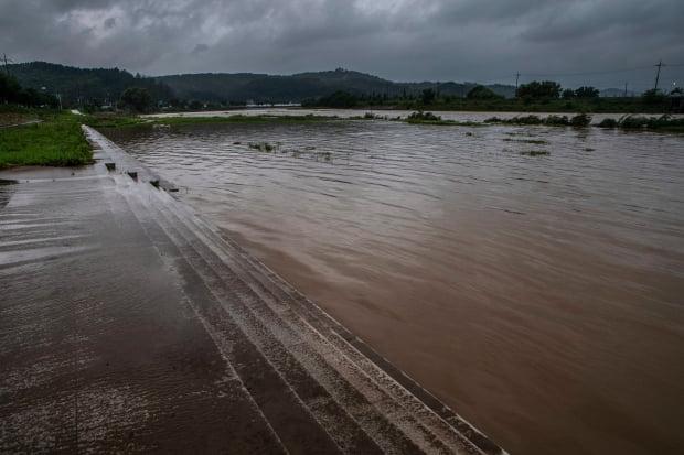 환경부 한강홍수통제소가 6일 오전 5시 50분을 기해 탄천 서울시 대곡교 지점에 홍수주의보를 발령했다고 서울시가 전했다. 사진=연합뉴스