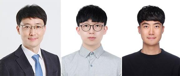 (왼쪽부터) 윤준보 교수, 최광욱 박사, 조민승 박사과정 [사진 제공=KAIST]