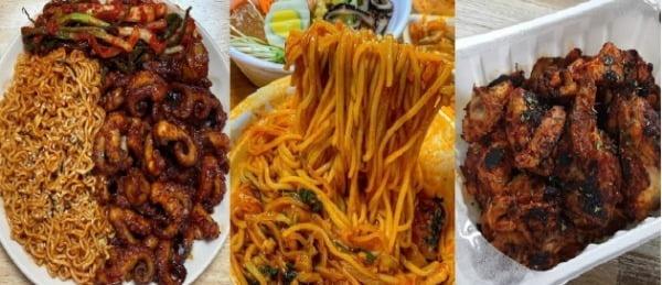 인스타그램 #매운맛 게시글 화면 캡쳐. (왼쪽부터) 아이디 _oct.02, orange._.yun, js1dak.