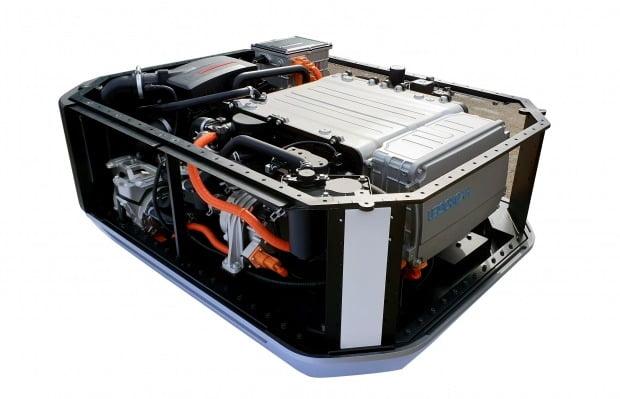 현대차가 생산하는 수소연료전지 시스템 모습. 사진=현대차