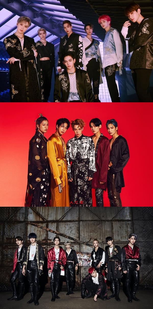 슈퍼엠, 에이스, 스트레이키즈 /사진=SM엔터테인먼트, 비트인터렉티브, JYP엔터테인먼트 제공