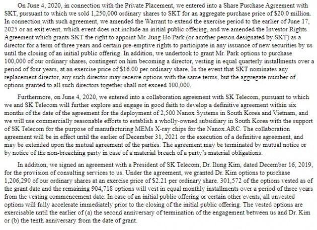 나녹스가 미 SEC에 제출한 증권신고서