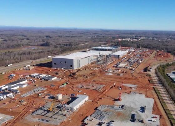 SK이노베이션 미국 조지아주 제1 배터리 공장 건설현장 [사진=SK이노베이션]