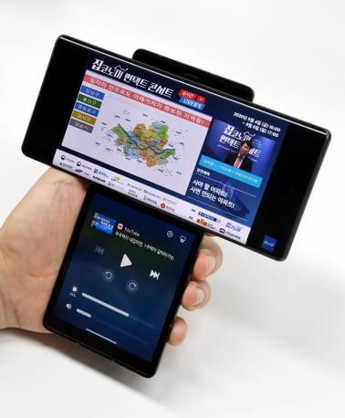 LG전자의 스마트폰 신제품 'LG 윙'.   한경DB
