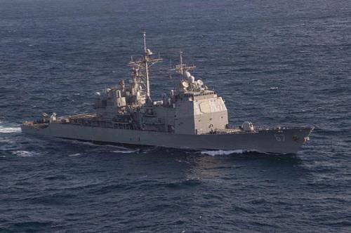 올초 대만해협을 통과한 미국 이지스급 순양함 샤일로  /미 해군 홈페이지