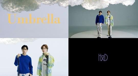 이한결 남도현,우산 뮤직비디오(사진=포켓돌스튜디오)