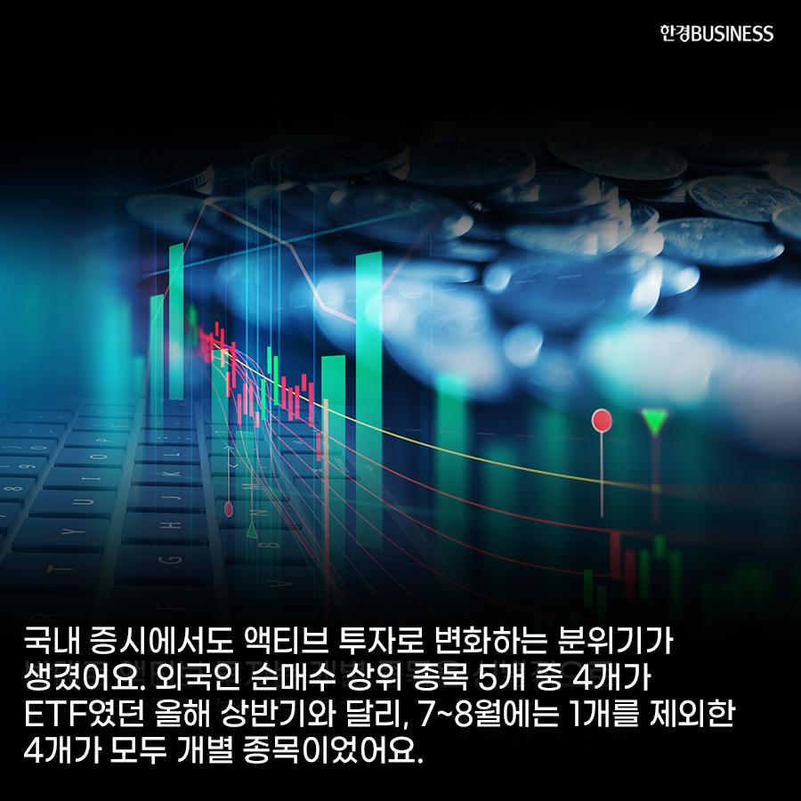 [카드뉴스] 패시브에서 액티브로...외국인 투자도 변했다. :성장주 힘 더 강해지나?