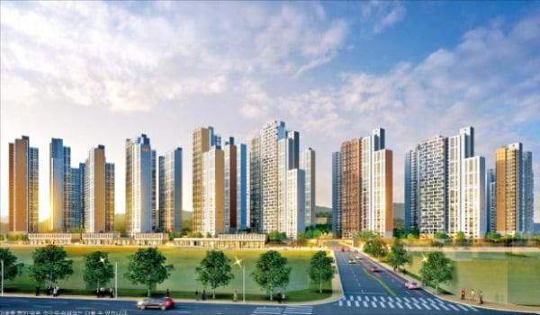 인천에서 공급 예정인 5050가구 규모의  'e편한세상 부평 그랑힐스' 조감도. 건설사 제공