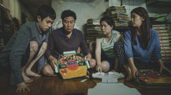 tvN이 방영하는 영화 '기생충'