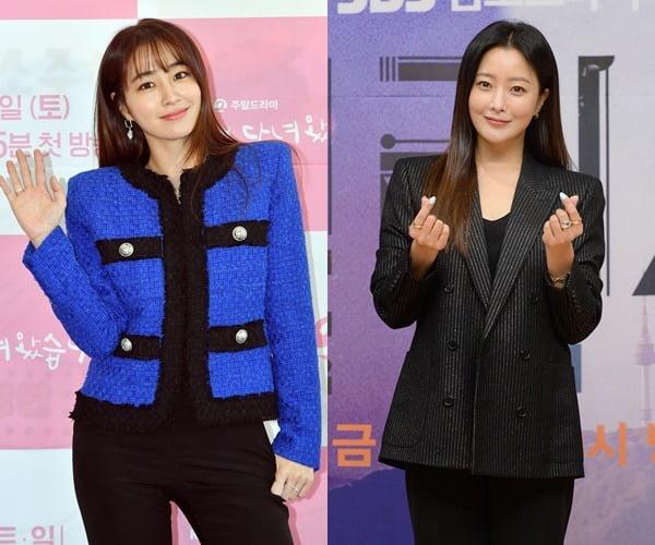 주말드라마에 출연 중인 배우 이민정(왼쪽), 김희선 /사진=KBS, SBS 제공