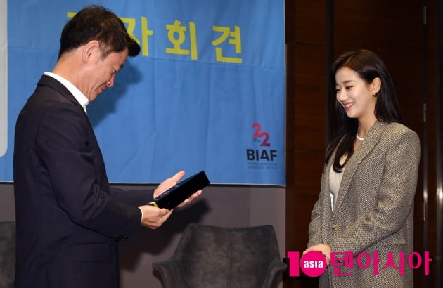[TEN 포토] 에이프릴 이나은 'BIAF 홍보대사 위촉 기뻐요'(BIAF2020 홍보대사)
