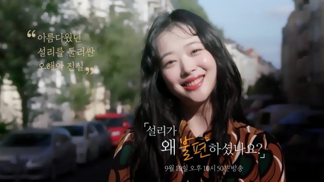 '다큐플렉스' 설리 편 / 사진제공=MBC
