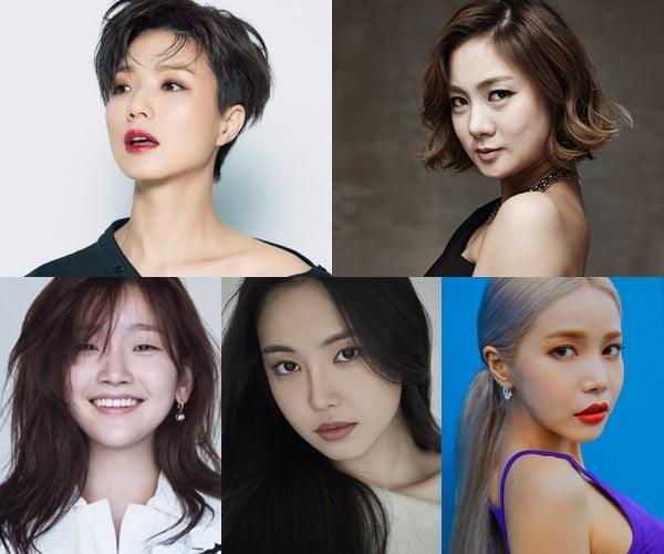 '갬성캠핑' 출연자 안영미(왼쪽 위부터 시계방향), 박나래, 솔라, 손나은, 박소담/ 사진=JTBC 제공