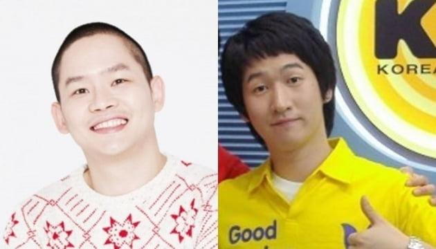불법 도박장 개설 및 운영 혐의를 받고 있는 개그맨 김형인(왼쪽), 최재욱