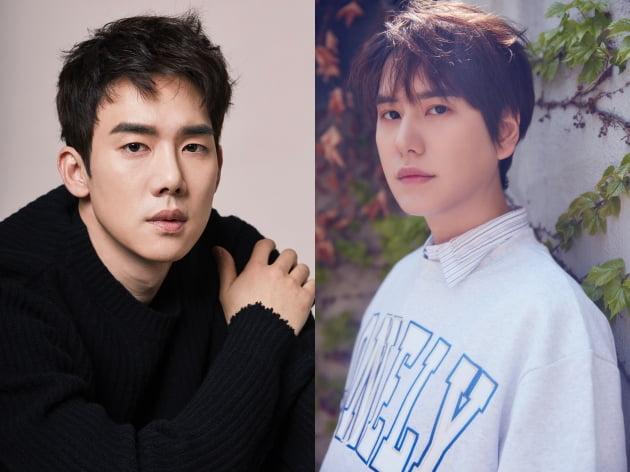 (왼) 배우 유연석, (오) 슈퍼주니어 규현. 사진 = SJ레이블 제공