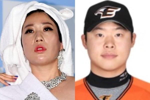 개그우먼 김영희(왼쪽) 프로야구 선수 출신 윤승열