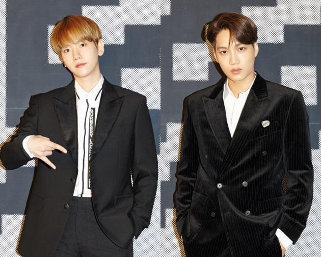 그룹 SuperM(슈퍼엠)의 백현(왼쪽)과 카이 / 사진제공=SM엔터테인먼트