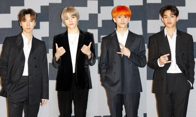 그룹 SuperM(슈퍼엠)의 텐(왼쪽부터)태용 마크 루카스 / 사진제공=SM엔터테인먼트