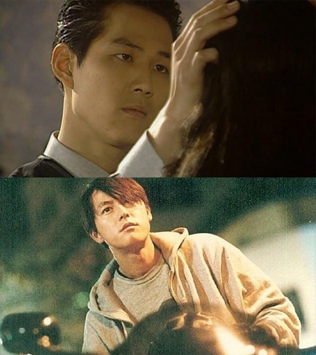 드라마 '모래시계'의 이정재(위)와 영화 '비트'의 정우성 / 사진제공=SBS 영상 캡처, 우노필름