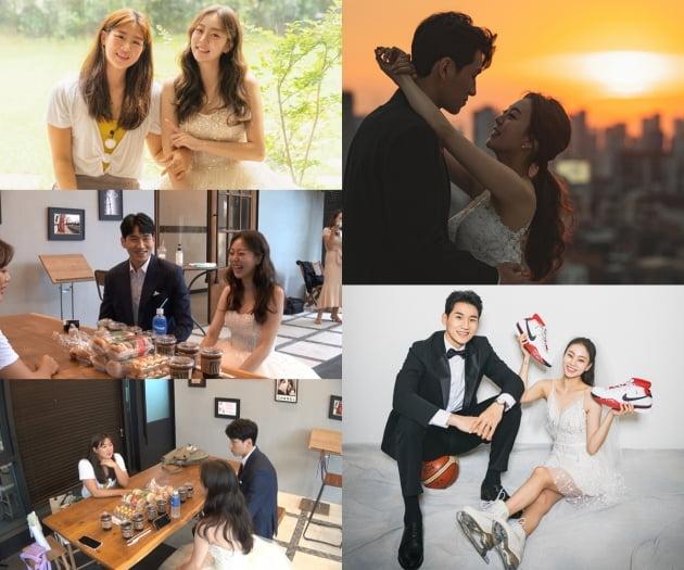 '노는 언니' 곽민정♥문성곤 웨딩 촬영장/ 사진=E채널 제공