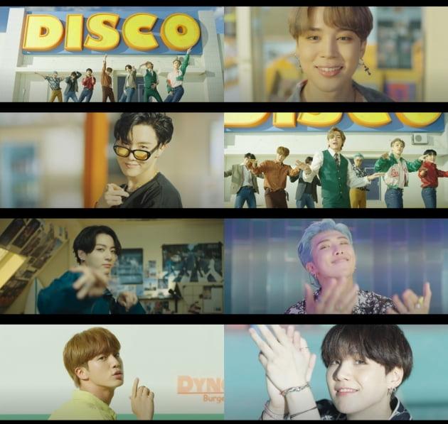 사진=그룹 방탄소년단 'Dynamite' 뮤직비디오 캡처