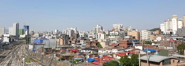 정부가 도입한 '공공재개발'을 추진하기로 결정한 서울 전농동 전농9예정구역 일대. 전형진 기자