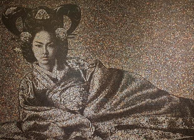 우종일의 'Joseon Dynasty Royal Family Series' Empress #7, 120cmX171cm, 2014.