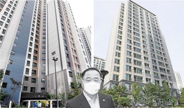 내년 1월까지 비워줘야 하는 마포 전셋집 (왼쪽). 지난 8월 매도 계약한 의왕 아파트(자료 한경DB)