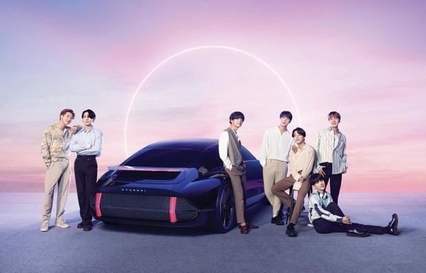 현대차가 방탕소년단(BTS)과 함께 선보인 전기차 브랜드 아이오닉 이미지. 사진=현대차