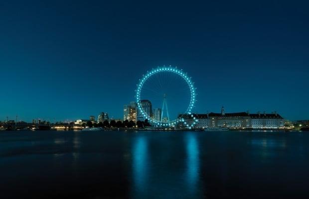 현대차가 영국 런던아이를 이용해 선보인 아이오닉 브랜드 런칭 캠페인. 사진=현대차