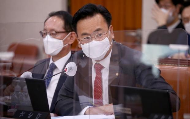 유상범 국민의힘 의원이 19일 서울 여의도 국회에서 열린 법제사법위원회 국정감사에서 질의하고 있다. 사진=뉴스1