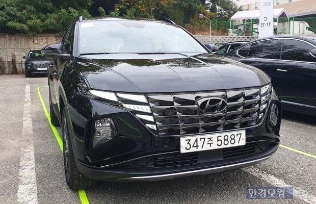 현대차가 출시한 4세대 준중형 SUV 디 올 뉴 투싼. 사진=오세성 한경닷컴 기자