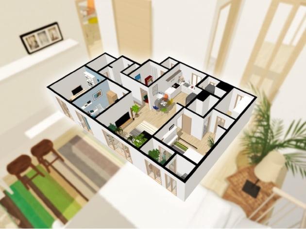어반베이스가 구현한 3D 아파트 공간