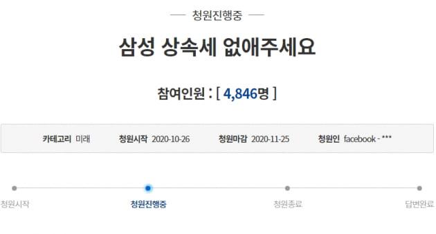 """""""삼성 상속세 없애주세요""""…국민들이 靑 청원 글 올린 이유"""