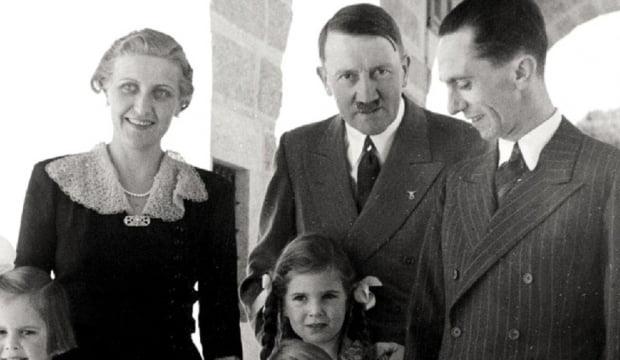 왼쪽부터 마그다 괴벨스, 히틀러, 요셉 괴벨스. 사진 = SNS/커뮤니티 캡처